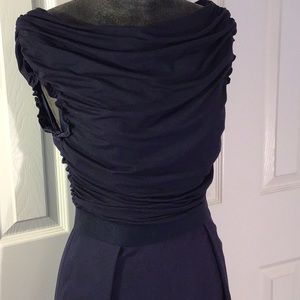 Shoshanna navy ruched neck dress Sz 4
